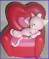 Копилка Кошка на кресле, красная